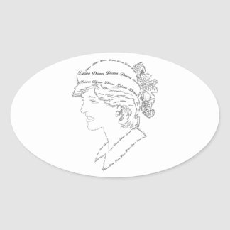 プリンセスダイアナの単語の芸術 楕円形シール