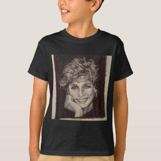 プリンセスダイアナインクペンのポートレート Tシャツ