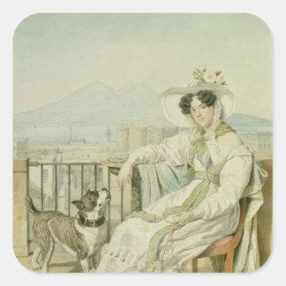 プリンセスナタリアGolitsin 1822-26年のポートレート スクエアシール