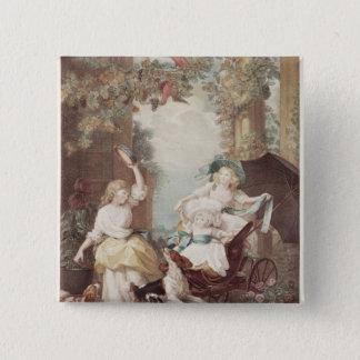 プリンセスメリー、Sophiaおよびアメリア 5.1cm 正方形バッジ