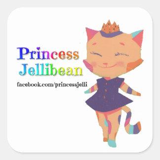 プリンセスJellibeanのステッカー スクエアシール