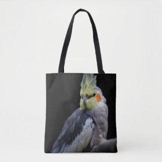 プリントのバッグをくまなくCockatiel トートバッグ