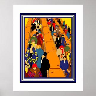 プリントのレトロのロンドンのヴィンテージのイメージ(2) ポスター