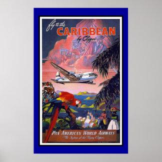 プリントのレトロのヴィンテージのイメージ旅行カリブ ポスター