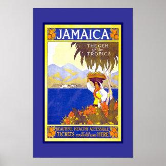 プリントのレトロのヴィンテージのイメージ旅行ジャマイカ ポスター