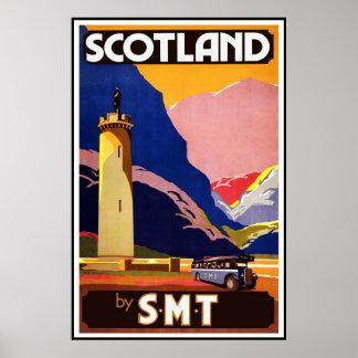 プリントのレトロのヴィンテージのイメージ旅行スコットランド ポスター