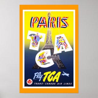 プリントのレトロのヴィンテージのイメージ旅行パリ ポスター