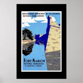 プリントのレトロのヴィンテージのイメージ旅行フロリダ ポスター