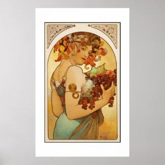 プリントのレトロの芸術家のミュシャのイメージ ポスター