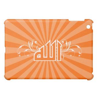 プリントの書道のアラーのイスラム教のオレンジレトロの箱 iPad MINI CASE
