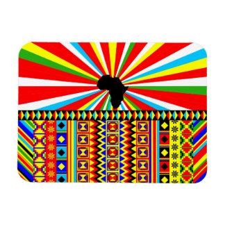 プリントのKenteのアフリカの布の種族パターンアンカラ マグネット