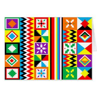 プリントのKenteのアフリカの布の種族パターン カード