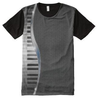 プリントのTシャツをくまなくモダンなキーボード オールオーバープリントシャツ
