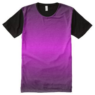 プリントのTシャツをくまなくGraedient Violet™ オールオーバープリントT シャツ