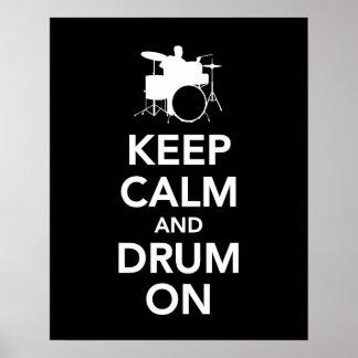プリントまたはポスターの平静そしてドラムを保って下さい ポスター