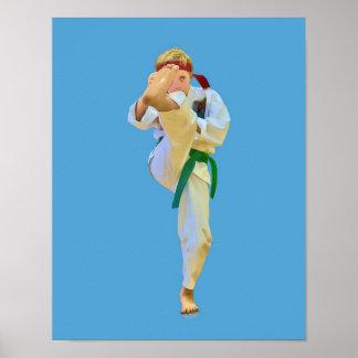 プリントを蹴る空手 ポスター