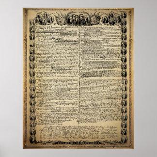 プリントヴィンテージの独立宣言 ポスター