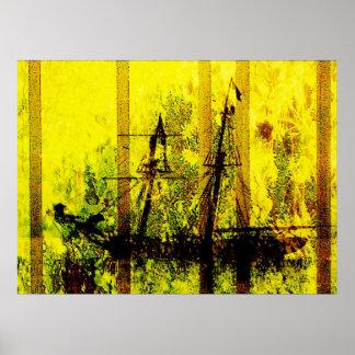 プリント海洋の自由航行権 ポスター