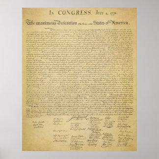 プリント独立宣言 ポスター