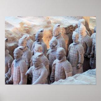 プリント-テラコッタ戦士のXiánの中国 ポスター