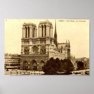 プリント-パリ、Notre Dame ポスター