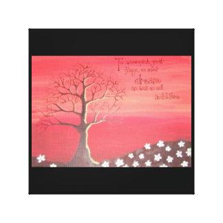 プリント: 秋のテーマの絵画 キャンバスプリント