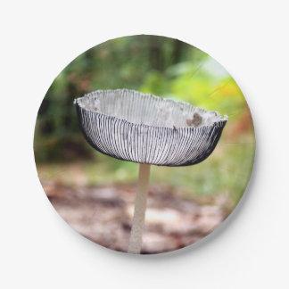 プリーツをつけられたInkcapのきのこの紙皿 ペーパープレート