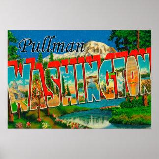 プルマン式車両、ワシントン州-大きい手紙場面 ポスター