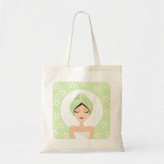 プルメリアのスパか美容院のくつろぎのバッグ トートバッグ
