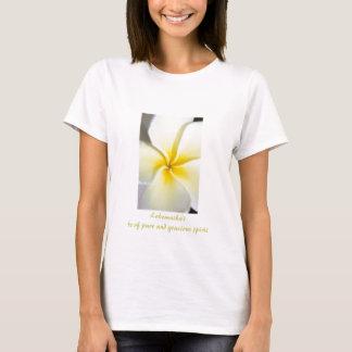 プルメリアのデザインの女性のベビードールのティー Tシャツ