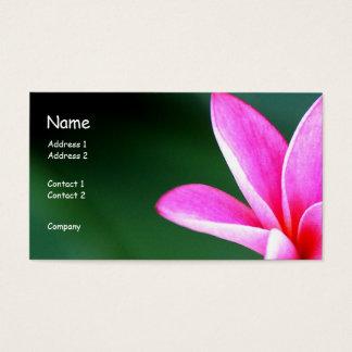 プルメリアのプロフィールカード 名刺