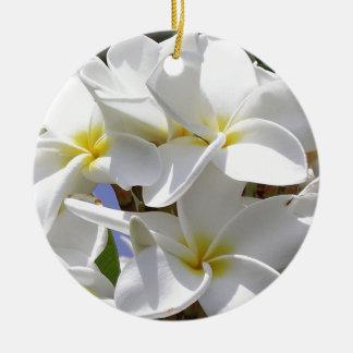 プルメリアの熱帯花 セラミックオーナメント