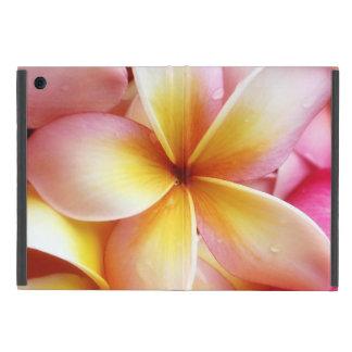プルメリアの花のハワイのFrangipaniの花柄 iPad Mini ケース