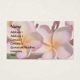 プルメリアの花の名刺 名刺