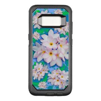 プルメリアの花束のエキゾチックな夏パターン オッターボックスコミューターSamsung GALAXY S8 ケース