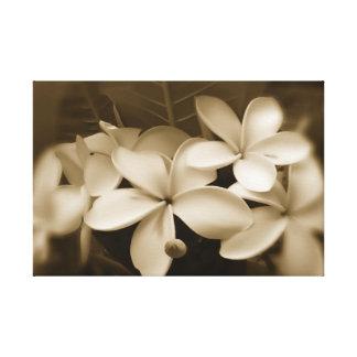 プルメリアの花柄の結婚式招待状 キャンバスプリント
