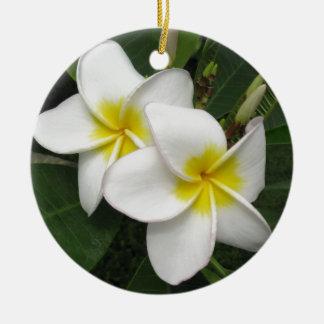 プルメリアの花 セラミックオーナメント