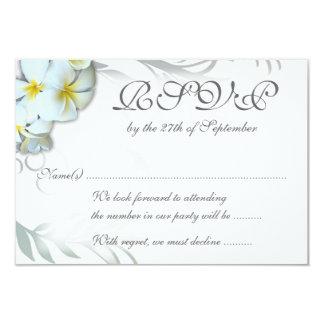プルメリアの華麗さRSVPの結婚式のエンクロージャカード カード