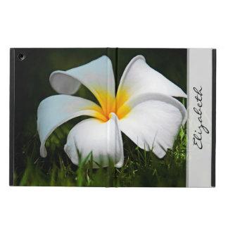 プルメリアのFrangipaniのハワイの白い花 iPad Airケース