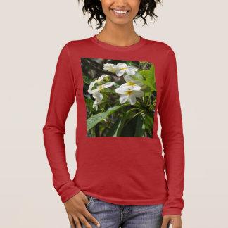 プルメリアのFrangipani 長袖Tシャツ