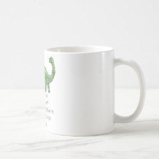 プルートおよびBrontosaurus コーヒーマグカップ