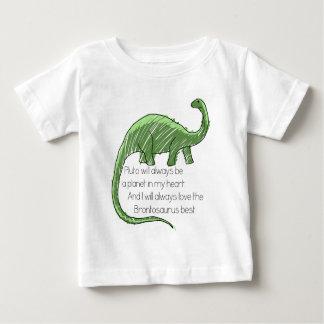 プルートおよびBrontosaurus ベビーTシャツ