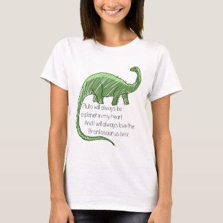 プルートおよびBrontosaurus Tシャツ