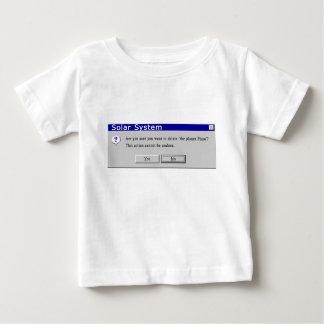 プルートのおもしろいな階級を下げられたデザイン ベビーTシャツ
