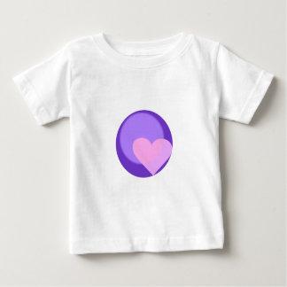 プルートのハート ベビーTシャツ