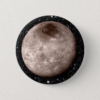 プルートの月CHARONの星の背景(太陽系) 5.7CM 丸型バッジ