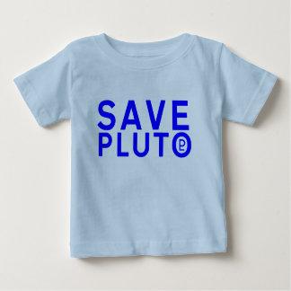 プルートの記号を救って下さい(青い) ベビーTシャツ