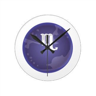 プルートの記号 ラウンド壁時計