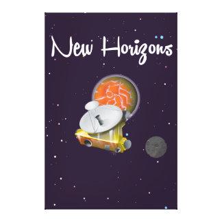 プルートの郵便はがきのニュー・ホライズンズの宇宙の技術 キャンバスプリント