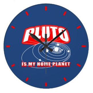 プルートは私の家の惑星です ラージ壁時計